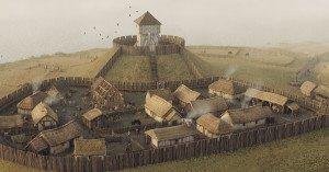 Fort du Chêne surplombant le village