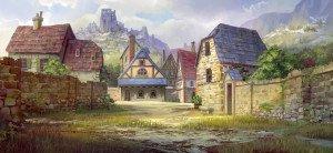 Petitchamp aujourd'hui, le village surplombé par le château de Fortmont